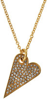 Rebecca Minkoff 14k Gold-Plated Crystal Heart Pendant Necklace