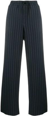 Ganni Pinstripe Wide-Leg Trousers
