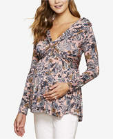 Jessica Simpson Maternity Off-the-Shoulder Printed Top