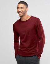 Lindbergh Sweater In Merino Wool In Burgundy