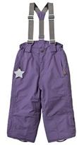 Mini A Ture Purple Witte Ski Pants with Removable Braces