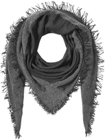 Faliero Sarti Fringed Scarf with Virgin Wool, Cashmere and Silk