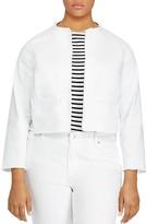 Lauren Ralph Lauren Plus Frayed Denim Jacket