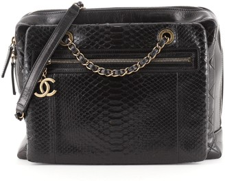 Chanel Urban Mix Zipped Tote Quilted Glazed Calfskin and Python Medium