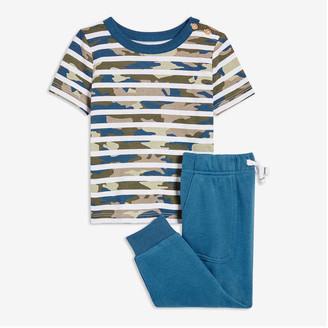 Joe Fresh Baby Boys' Tee and Pant Set, Light Navy (Size 6-12)