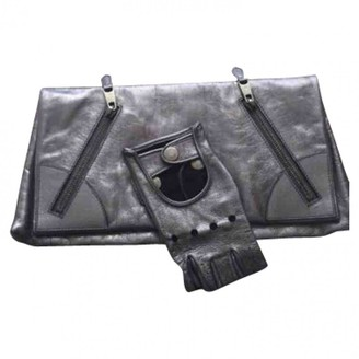 Alexander McQueen Anthracite Leather Clutch bags