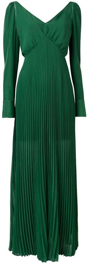 Self-Portrait pleated dress