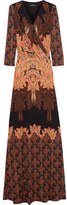 Etro Paisley-print Silk-jersey Maxi Dress - Orange