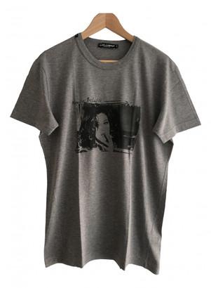 Dolce & Gabbana Anthracite Cotton T-shirts