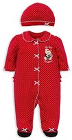 Little Me Infant Girls' First Christmas Bear Footie & Hat Set - Sizes 3-9 Months