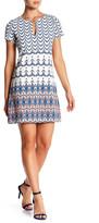 Jessica Simpson Short Sleeve Fit & Flare Dress