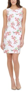 Tommy Hilfiger Floral-Print Scuba Sheath Dress