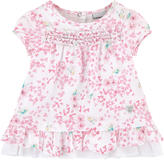 3 Pommes Flower-printed poplin dress and matching bloomers