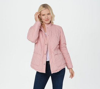 Isaac Mizrahi Live! Reversible Quilted to Sherpa Jacket