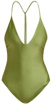 JADE SWIM Micro T-back Swimsuit - Womens - Green
