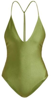 JADE SWIM All In One T-back Swimsuit - Womens - Green