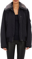 Helmut Lang Women's Fur-Collar Canvas Bomber Jacket