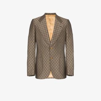 Gucci GG wool blend logo blazer
