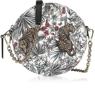 Furla Jungle Print Swing Mini Round Crossbody Bag