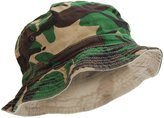 Universal Textiles Mens Reversible Camouflage Pattern Bucket Hat