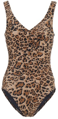 Karla Colletto Ava leopard-print swimsuit