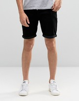 Asos Denim Shorts In Skinny Fit Mid Length