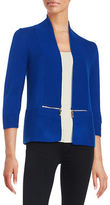 Ivanka Trump Open-Front Knit Cardigan