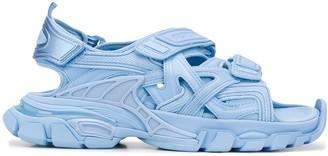 Balenciaga Chunky Ankle Strap Flat Sandals