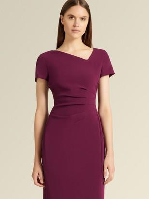 DKNY Short Sleeve Ruched Sheath Dress