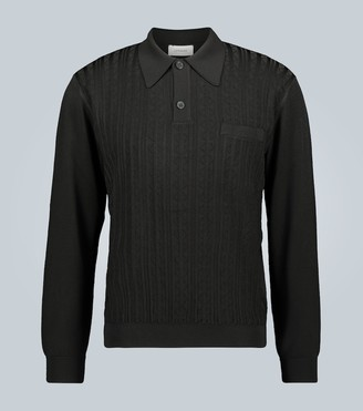Lemaire Jacquard knitted polo shirt