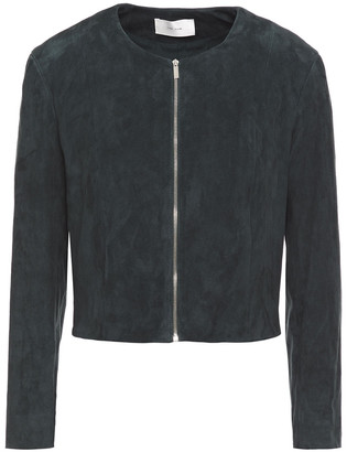 The Row Stanta Cropped Suede Jacket