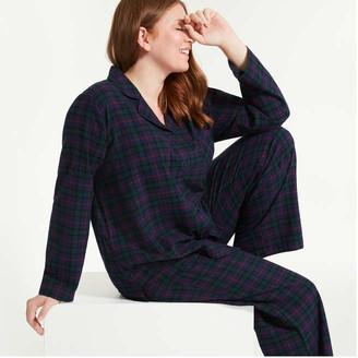 Joe Fresh Women+ 2 Piece Flannel Sleep Set, Sand (Size 2X)