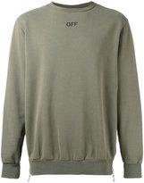 Off-White 'off' print sweatshirt - men - Cotton - S