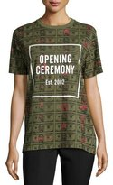 Opening Ceremony Short-Sleeve Money Jersey Tee, Cash Green