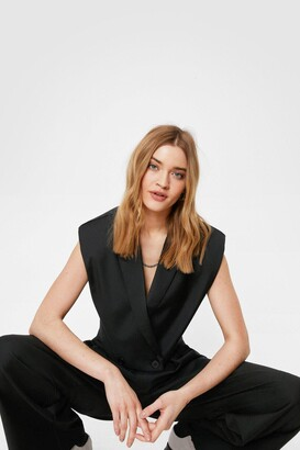 Nasty Gal Womens When It Suits You Shoulder Pad Cropped Blazer - Black - 6