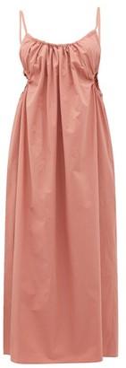 Araks Yeraz Gathered Tie-back Cotton Dress - Womens - Pink