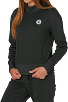 Converse Women's Shield Lycra Mock Neck Crew Sweatshirt