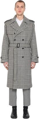 Alexander McQueen Oversize Wool Prince Of Wales Coat