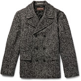 Michael Kors - Herringbone Slub Wool-blend Peacoat
