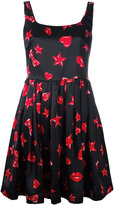 Moschino heart print skater dress - women - Viscose - 38