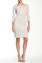 Tahari 3/4 Length Sleeve Tiered Dress