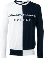 MAISON KITSUNÉ 'garage' pattern jumper - men - Cotton/Polyester - S