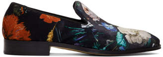 Paul Smith Black Floral Tudor Loafers