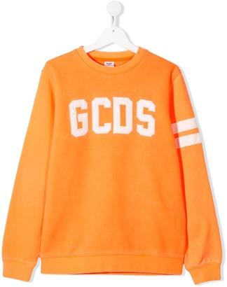 Gcds Kids TEEN embroidered logo sweatshirt
