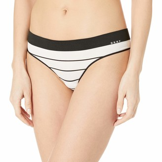 DKNY Women's Active Solid Seamless Thong