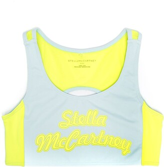 Stella McCartney Kids TEEN logo-print active sports bra