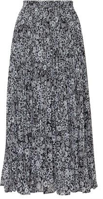 MICHAEL Michael Kors Floral Georgette Pleated Midi Skirt