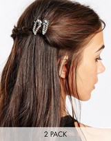 Kat&Bee Kat & George Two Pack Hair Grip With Skull And Chain