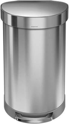 Simplehuman Silvertone 45L Semi-Round Can