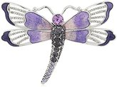 Napier Silver-Tone and Purple Boxed Dragonfly Brooches and Pin